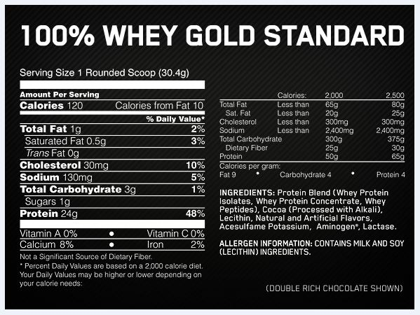 Image result for gold standard whey nutrition