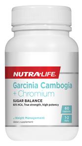 NUTRA-LIFE GARCINIA CAMBOGIA + CHROMIUM