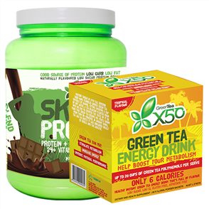X50 SKINNY UPSIZE & X50 GREEN TEA TROPICAL COMBO