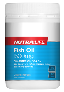 NUTRA-LIFE OMEGA 3 FISH OIL 1500MG