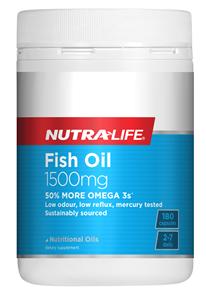 NUTRA-LIFE OMEGA 3 FISH OIL 1500MG