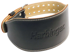HARBINGER 6INCH PADDED LEATHER BELT