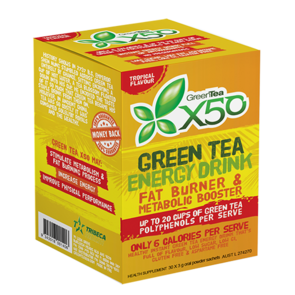 X50 GREEN TEA TROPICAL NEW FORMULA
