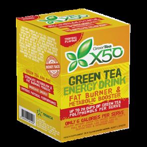 X50 GREEN TEA TROPICAL NEW FORMULA