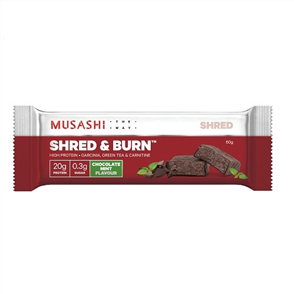 MUSASHI SHRED AND BURN SINGLE BAR