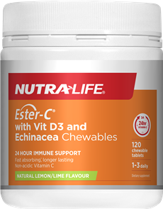 NUTRA-LIFE ESTER C 1000MG WITH VITAMIN D ECHINACEA CHEWABLES