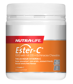 NUTRA-LIFE ESTER C 1000MG WITH VITAMIN D ECHINACEA CHEWABLE