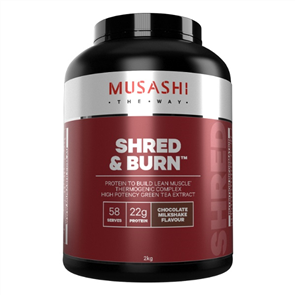 MUSASHI SHRED AND BURN PROTEIN