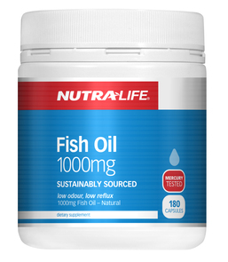 NUTRA-LIFE OMEGA 3 FISH OIL 1000MG