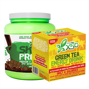 X50 SKINNY PROTEIN & X50 GREEN TEA TROPICAL COMBO