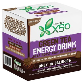 X50 GREEN TEA CHOCOLATE NEW FORMULA