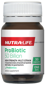 NUTRA-LIFE PROBIOTIC 50 BILLION
