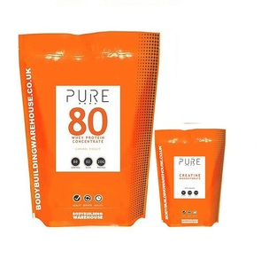 BODYBUILDING WAREHOUSE PURE WHEY PROTEIN & CREATINE UPSIZE COMBO
