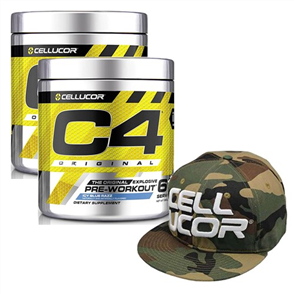 CELLUCOR C4 PRE WORKOUT 60 SERVE DOUBLE COMBO