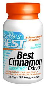 DOCTORS BEST CINNAMON EXTRACT CINNULIN PF 125MG