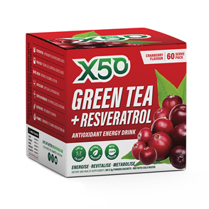 X50 GREEN TEA + RESVERATROL CRANBERRY