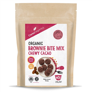 CERES ORGANICS BROWNIE BITE MIX CHEWY CACAO