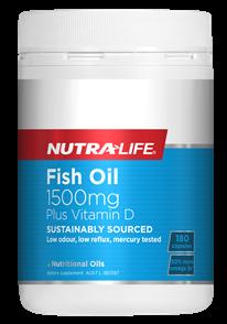 NUTRA-LIFE OMEGA 3 FISH OIL 1500MG PLUS VITAMIN D