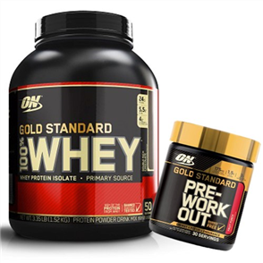 OPTIMUM NUTRITION 100% GOLD STANDARD WHEY 3.5LB PLUS PRE COMBO