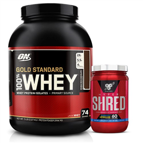SPRINT FIT GOLD STANDARD 100% WHEY HYPER SHRED COMBO