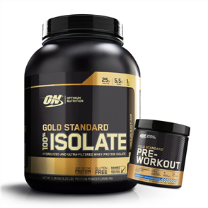 OPTIMUM NUTRITION GOLD STANDARD ISOLATE PRE WORKOUT COMBO