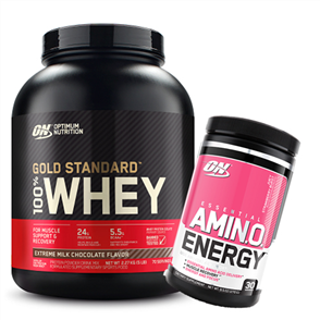 OPTIMUM NUTRITION GOLD STANDARD WHEY 5LB AMINO ENERGY COMBO