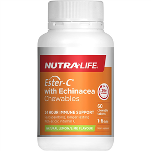 NUTRA-LIFE ESTER C WITH ECHINACEA CHEWABLES