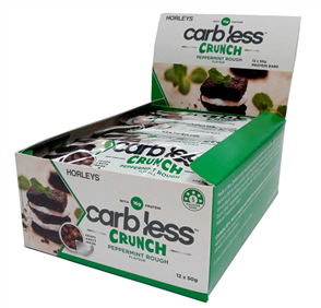 HORLEYS CARB LESS CRUNCH BARS (BOX 12'S 50G)