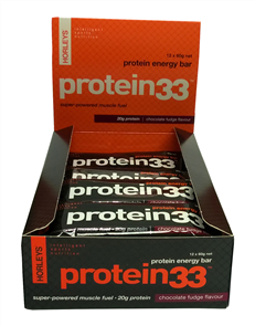 HORLEYS PROTEIN 33 BAR (BOX 12'S 60G)