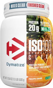 DYMATIZE ISO 100 HYDROLYZED CLEAR