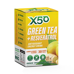 X50 GREEN TEA + RESVERATROL LEMON & GINGER
