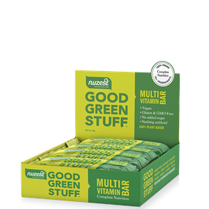 NUZEST GOOD GREEN STUFF MULTI-NUTRIENT BAR