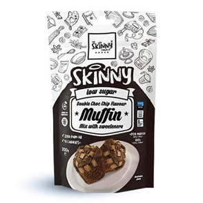 SKINNY FOOD CO DOUBLE CHOCOLATE CHIP MUFFIN MIX