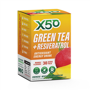 X50 GREEN TEA + RESVERATROL MANGO