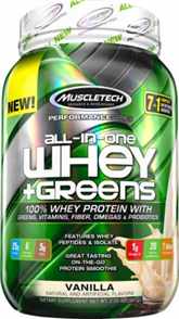 MUSCLETECH ALL IN ONE WHEY + GREENS