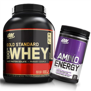 OPTIMUM NUTRITION GOLD STANDARD WHEY 3.5LB AMINO ENERGY COMBO