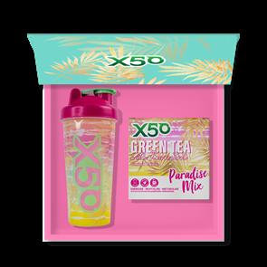 X50 GREEN TEA + RESVERATROL PARADISE MIX