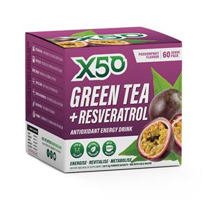 X50 GREEN TEA + RESVERATROL PASSIONFRUIT