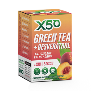 X50 GREEN TEA + RESVERATROL PEACH