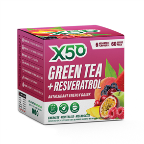 X50 GREEN TEA + RESVERATROL PARADISE FRUITS