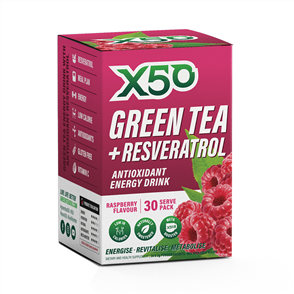 X50 GREEN TEA + RESVERATROL RASPBERRY