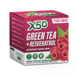 X50 GREEN TEA + RESVERATROL RASPBERRY
