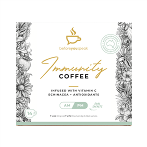 BEFORE YOU SPEAK IMMUNITY COFFEE