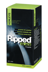 HORLEYS RIPPED BLACK