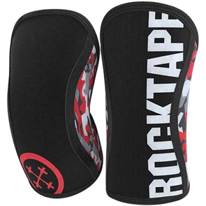 ROCKTAPE KNEE SLEEVES ASSASSINS RED CAMO 7MM PAIR