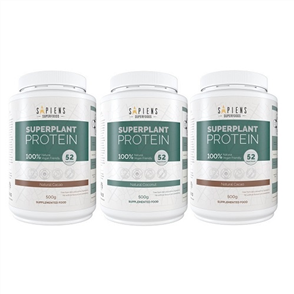 SAPIENS SUPERFOODS SUPERPLANT PROTEIN TRIPLE COMBO