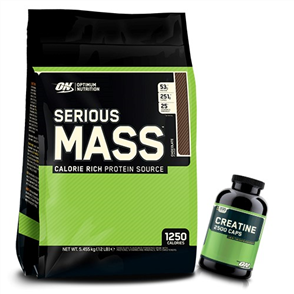 OPTIMUM NUTRITION SERIOUS MASS CREATINE CAPS COMBO
