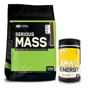 OPTIMUM NUTRITION SERIOUS MASS AMINO ENERGY COMBO