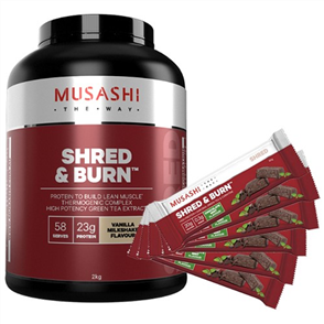 MUSASHI SHRED AND BURN
