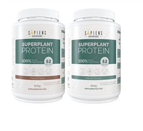 SAPIENS SUPERFOODS SUPERPLANT PROTEIN DOUBLE COMBO